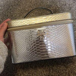 Gold Victoria's Secret makeup case
